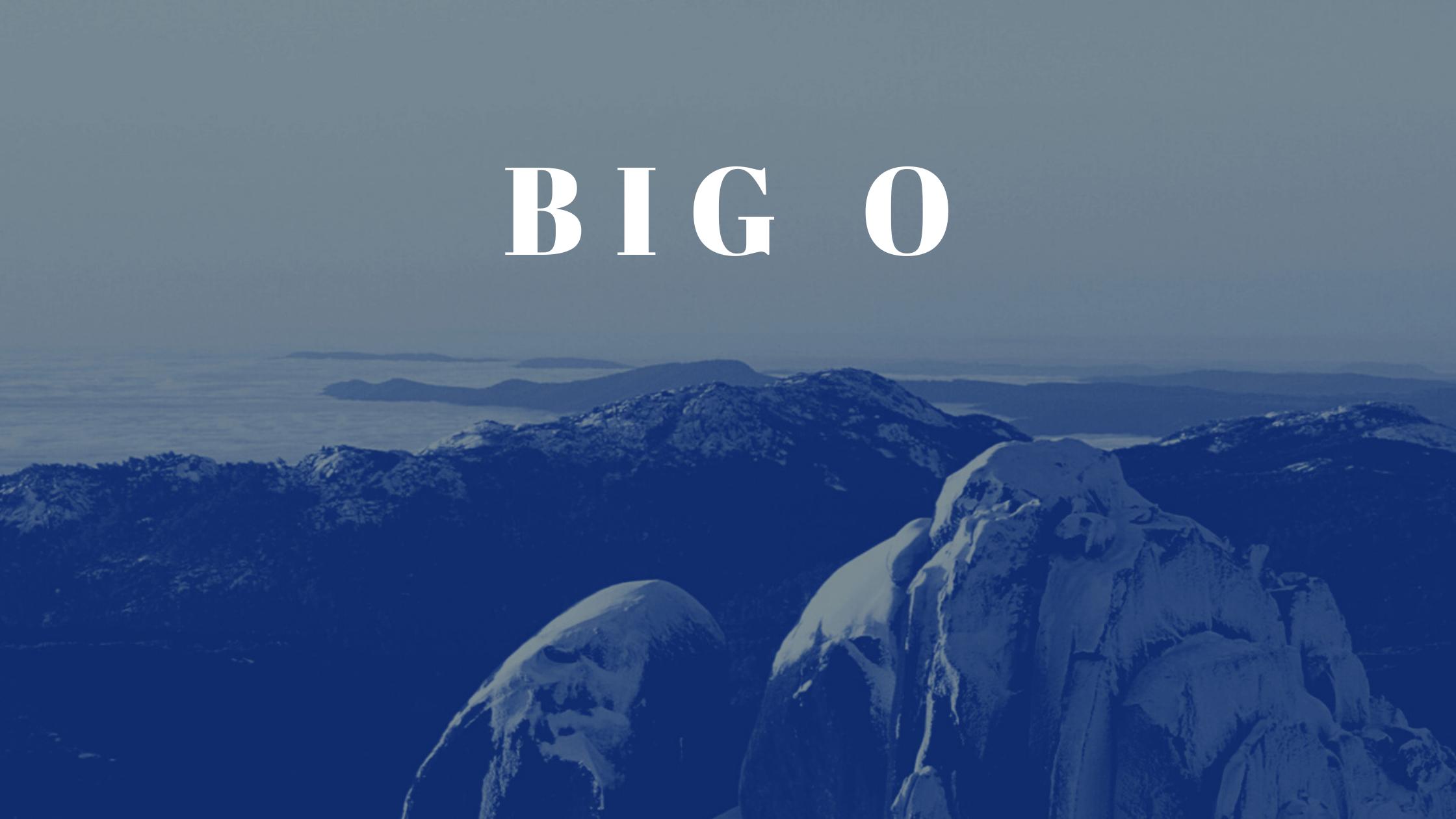 Big O Banner