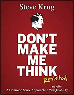 """""""Don't Make Me Think"""" book cover"""