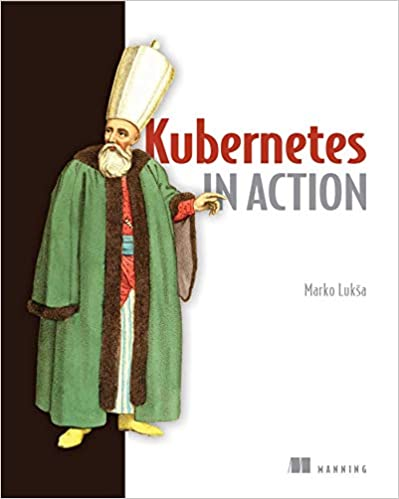"""""""Kubernetes in Action"""" book cover"""
