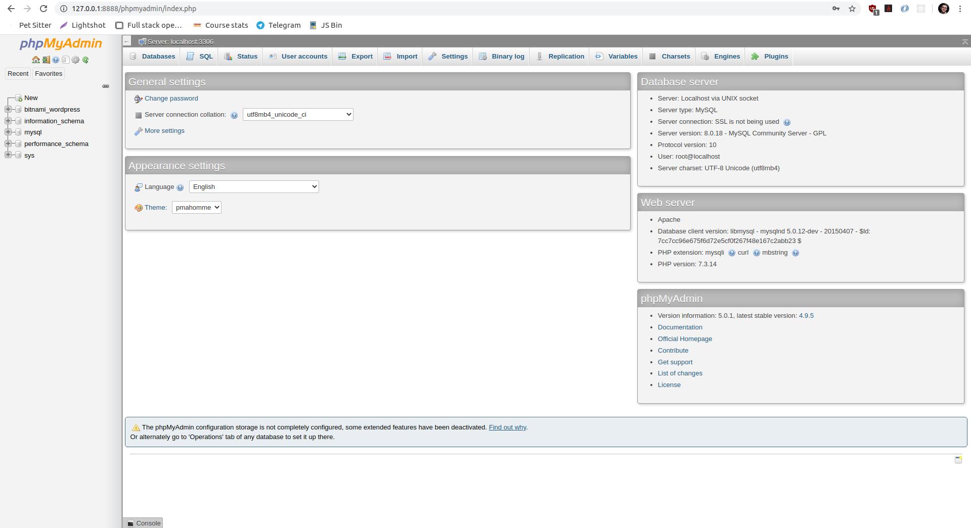 phpMyAdmin Access Granted