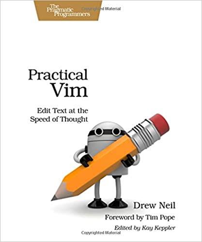"""Practical Vim"" book cover"