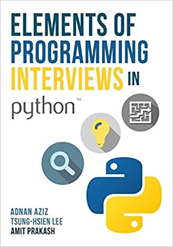 """""""Elements of Programming Interviews in Python"""" book cover"""
