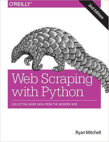"""""""Web Scraping with Python"""" book cover"""
